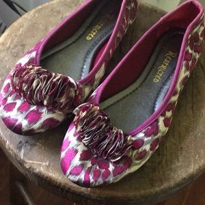 Restricted Shoes - Fun and Funky Pink Leopard Ballet Flats w/ Ruffle!